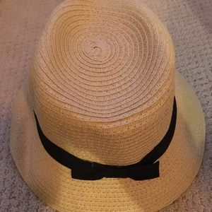 New Straw Hat w/Black Ribbon